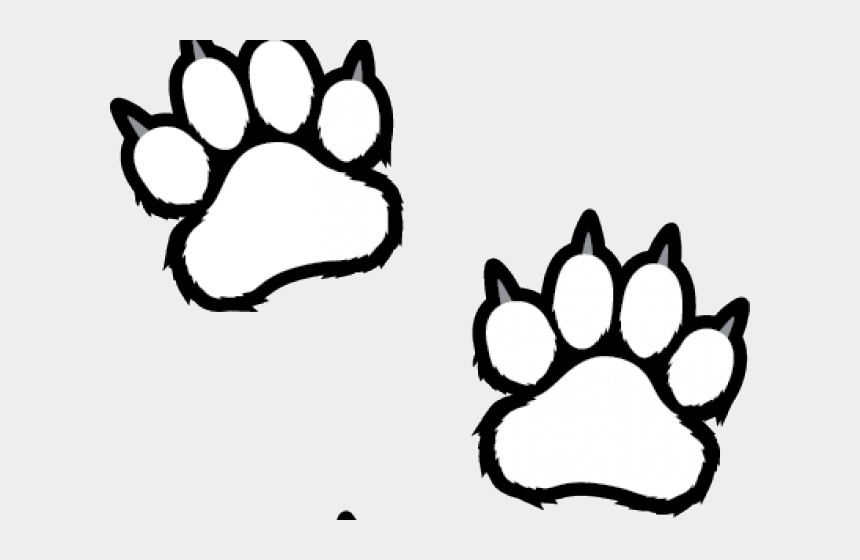 paw print clipart, Cartoons - Badger Clipart Paw Print - Tiger Paw Print White
