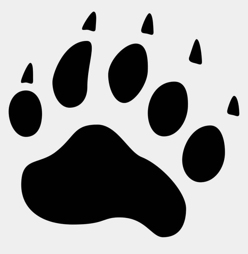 paw print clipart, Cartoons - Pawprint Svg Kitten - Bear Ico