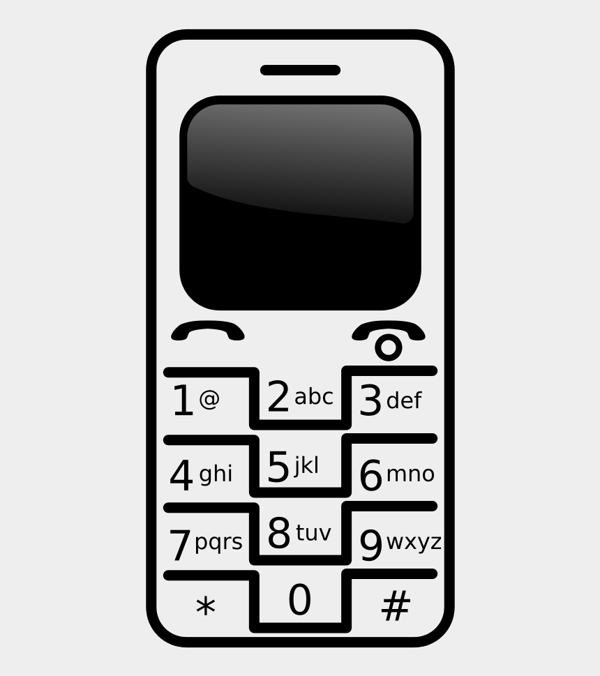 cell phone clip art, Cartoons - Mobile Clipart Png File Tag List, Mobile Clip Arts - Cell Phone Black And White