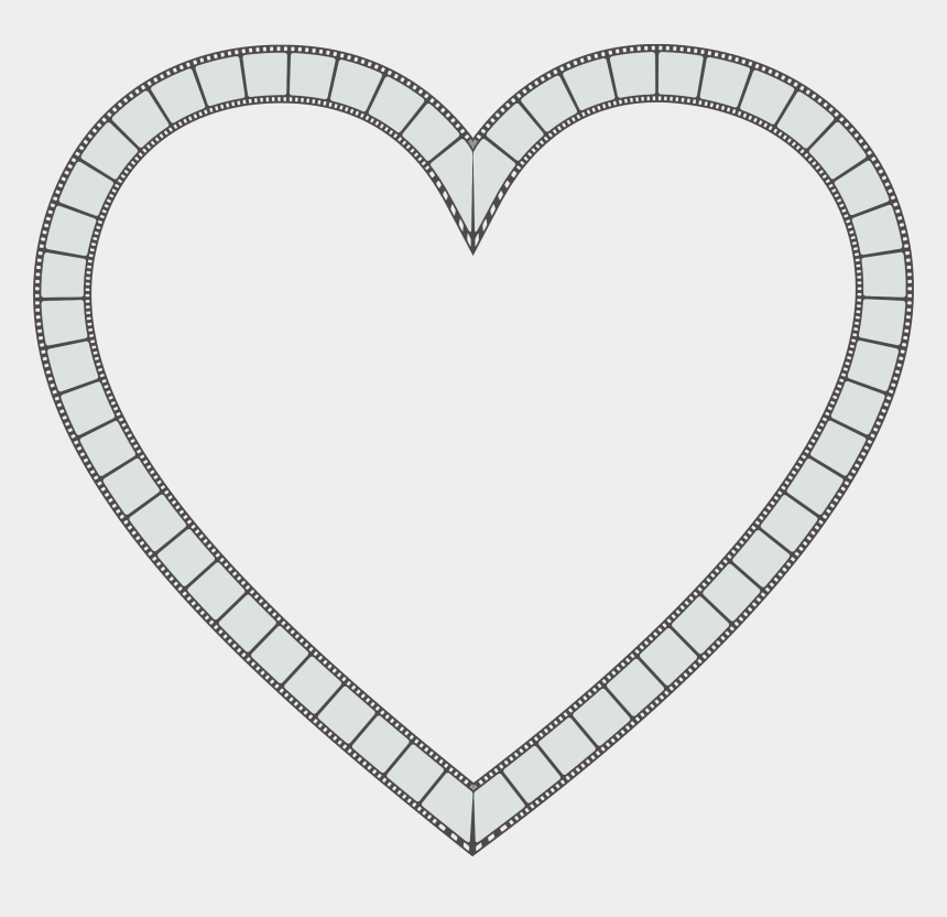 Christmas Things To Draw.Clipart Film Strip Heart Christmas Things To Draw Step By