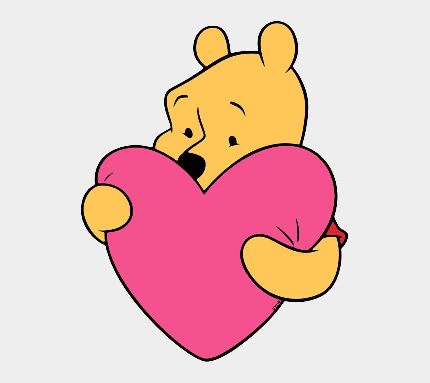valentine's day clip art, Cartoons - Winnie The Pooh Heart - Winnie The Pooh Holding A Heart Drawing