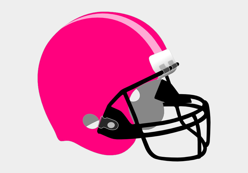 helmet clipart, Cartoons - Pink/light Pink Helmet Clip Art At Clker - Black Football Helmet Png