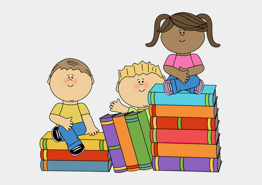 children reading clipart, Cartoons - Hundreds Of Cute Free Png Printables And Clip Art Of - Kids Books Clipart