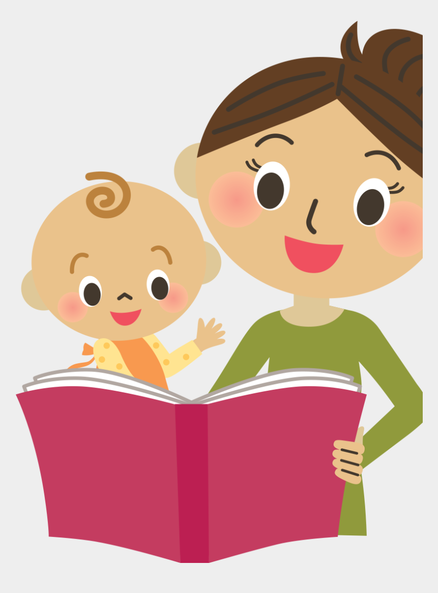 children reading clipart, Cartoons - Mom Reading With Child - Mother Reading Clip Art