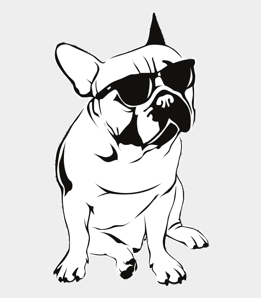 bulldog clip art, Cartoons - The First International Magazine For French Bulldog - Dogs With Sunglasses Drawing