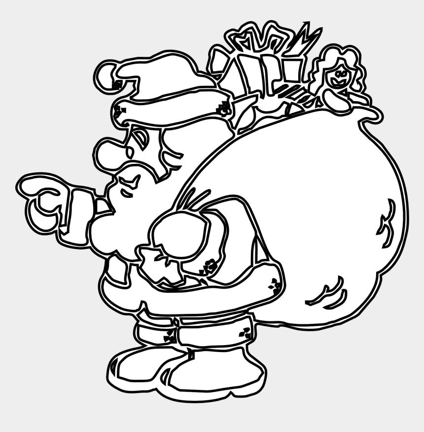 santa clip art, Cartoons - New Santa Clip Art Black And White Medium Size - Free Printable Pokemon Christmas Coloring Page