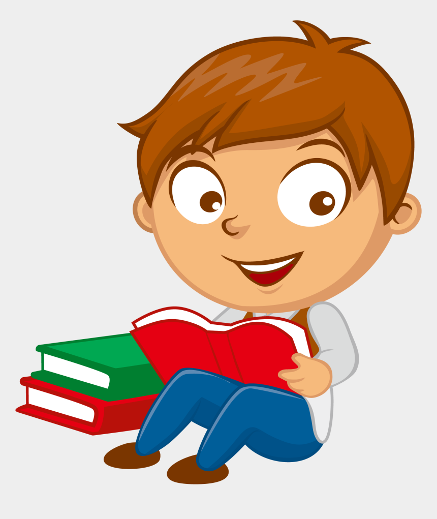 children reading clipart, Cartoons - Father Clipart Reading - Boy Reading Clipart Png
