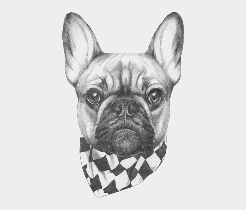 bulldog clip art, Cartoons - French Bulldog Clip Art - French Bulldog Head Drawing