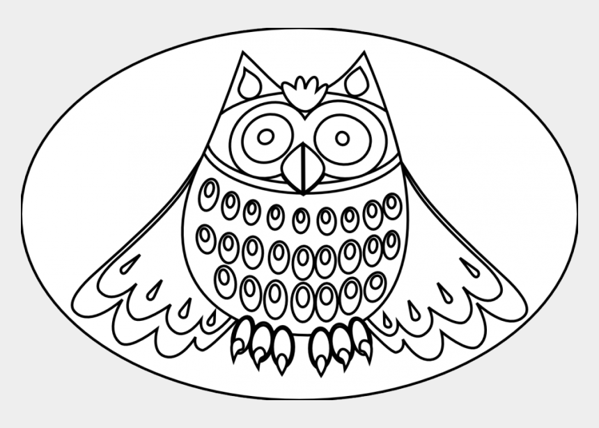 owl clip art black and white, Cartoons - Burrowing Owl Clipart Printable - Owl Coloring Snowy Owl Drawing For Kids