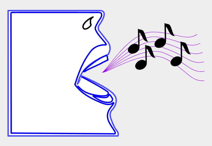music note clipart, Cartoons - Music Notes Clipart - Mouth With Music Notes