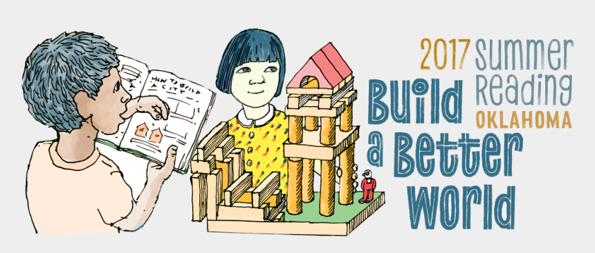 children reading clipart, Cartoons - 2017 Summer Reading Banner - Cartoon