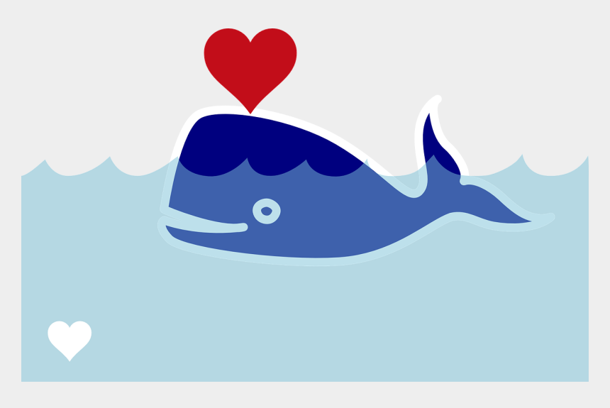 valentine's day clip art, Cartoons - Wal Sperm Whale Blast Heart Valentine's Day - Whale With Heart Cartoon