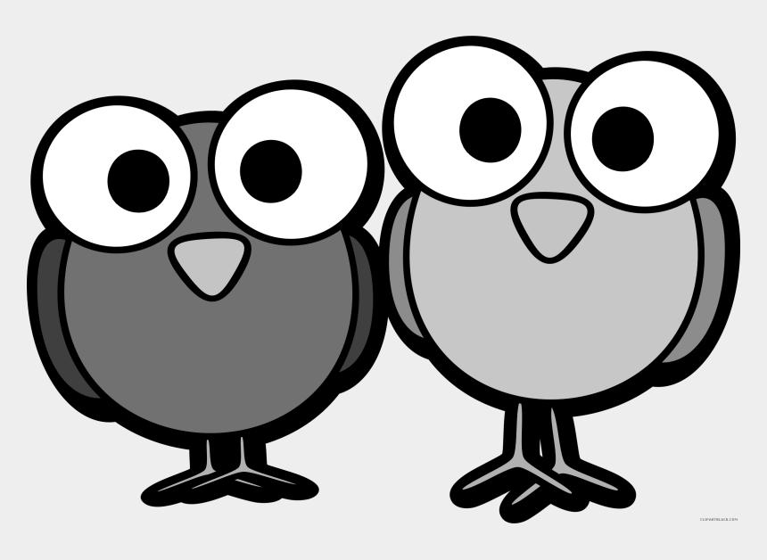 owl clip art black and white, Cartoons - Huge Bird Animal Free Black White Clipart Images Clipartblack - Clip Art Birds