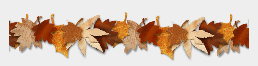 fall leaf clip art, Cartoons - Fall Leaves And Pumpkins Border Png - Clip Art