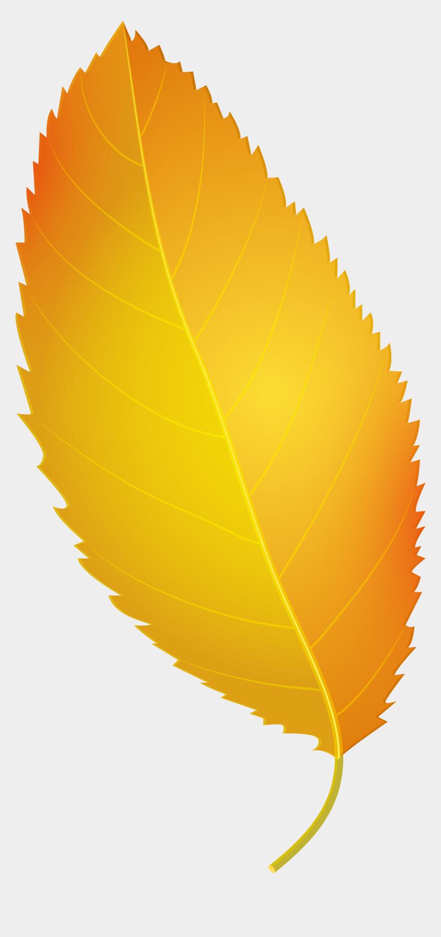 fall leaf clip art, Cartoons - Yellow Autumn Leaf Png Clip Art - Yellow Fall Leaves Clipart