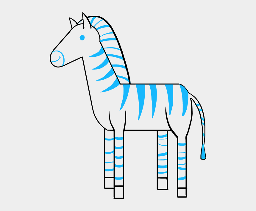 zebra clip art, Cartoons - How To Draw A Zebra - Simple Drawing Of Zebra