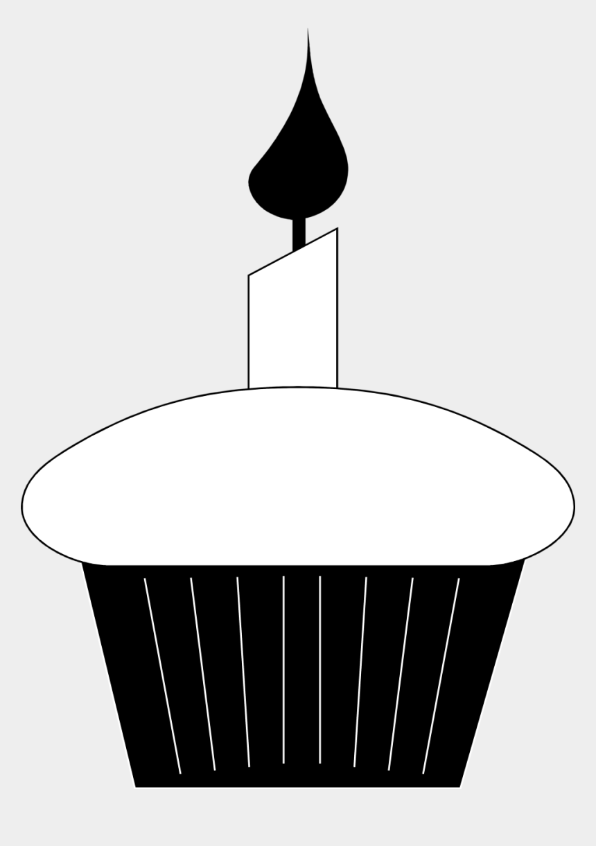 cupcakes clipart, Cartoons - Cupcake Black And White Birthday Cupcake Clip Art Black - Birthday Clipart Black White Transparent Background