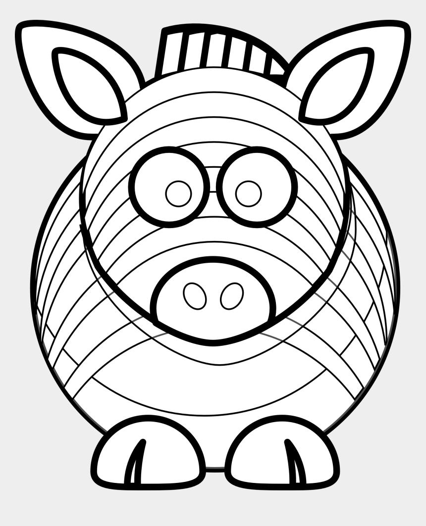 zebra clip art, Cartoons - Zebra Black White Line Art 999px 247 - Cute Animal Drawing Easy