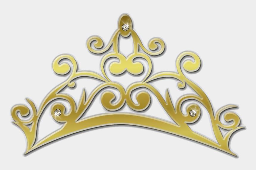 tiara clipart, Cartoons - Cinderella Clipart Tiara - Gold Princess Crown Png