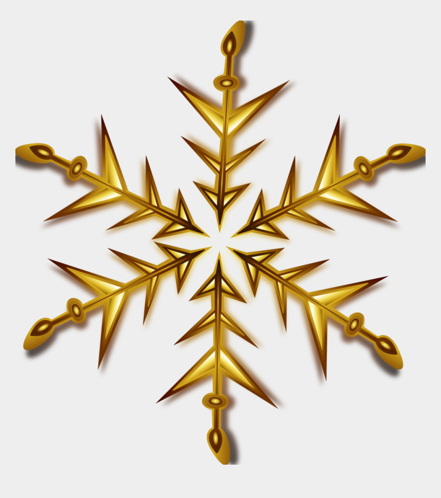 snowflakes clipart, Cartoons - Gold Snowflake Clip Art At Clker - Transparent Background Christmas Star Png