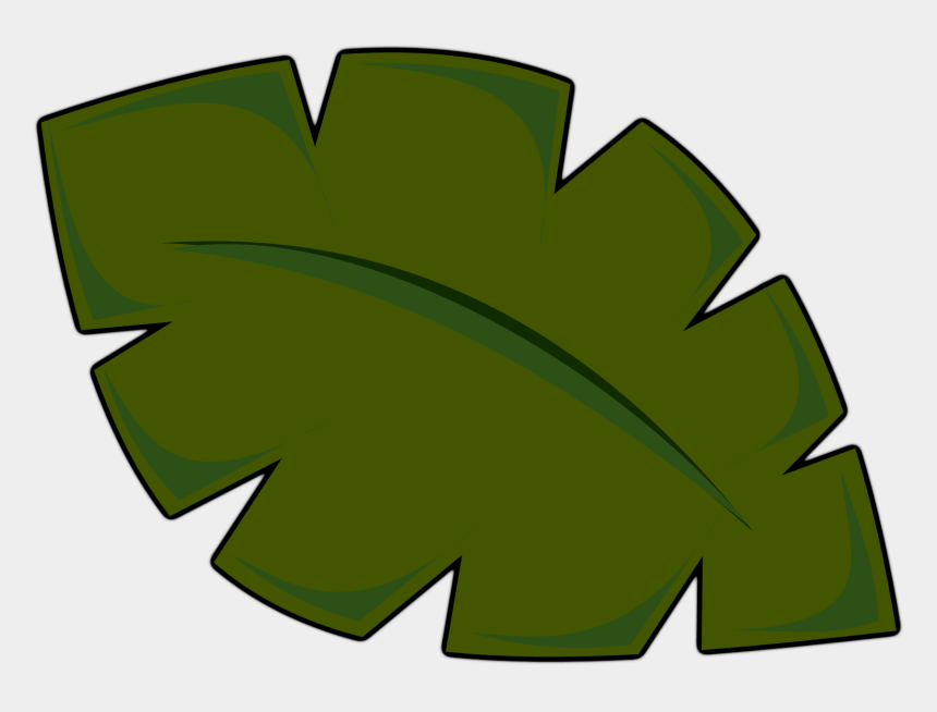 leaves clip art, Cartoons - Clipart Of Jungle, Leaf And Scenic - Palm Tree Leaves Clip Art