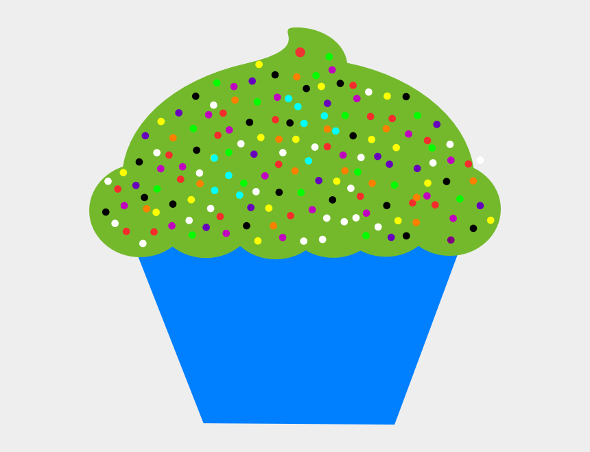 cupcakes clipart, Cartoons - Blue Clipart Cupcake - Birthday Cupcakes Clipart Free