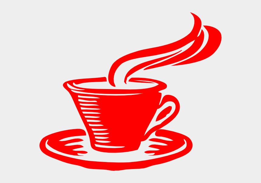 coffee cup clip art, Cartoons - Star Coffee Clip Art - Red Coffee Cup Clip Art