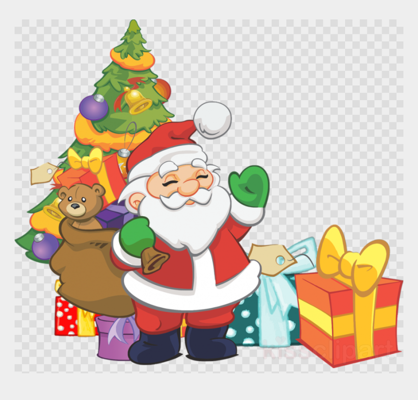 thanksgiving clipart for kids, Cartoons - Cartoon Christmas Tree Png - Clip Art Christmas Tree Santa