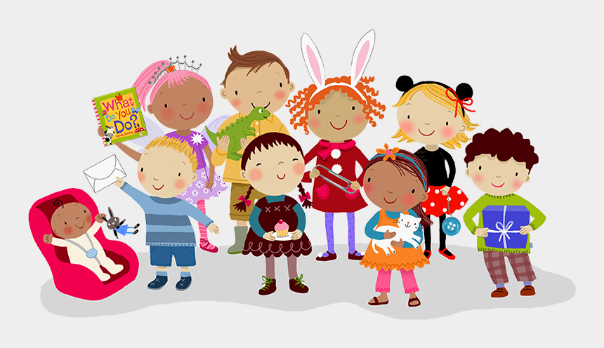 thanksgiving clipart for kids, Cartoons - Group Of Children Illustrated By Mandy Stanley - Children Illustration
