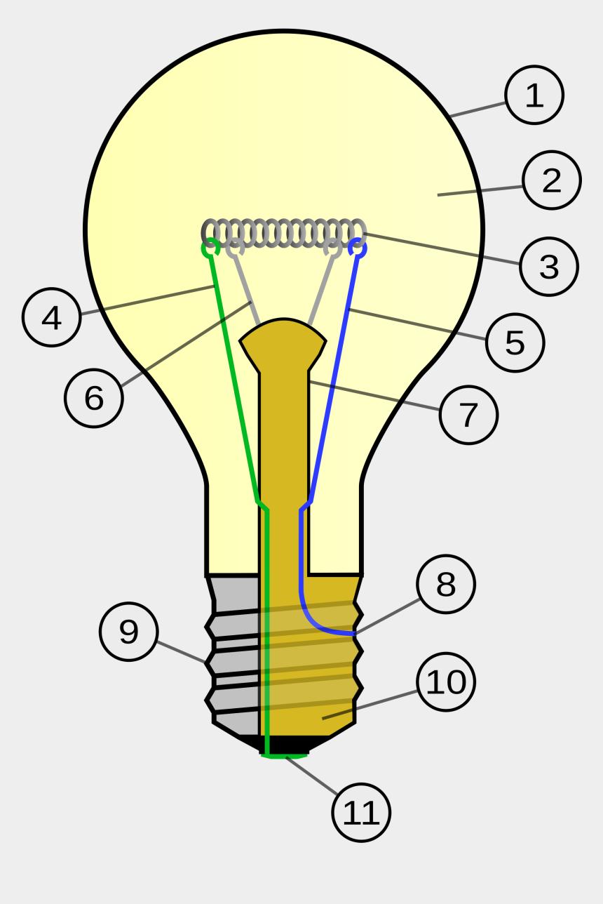 clipart lightbulbs, Cartoons - Incandescent Light Bulb