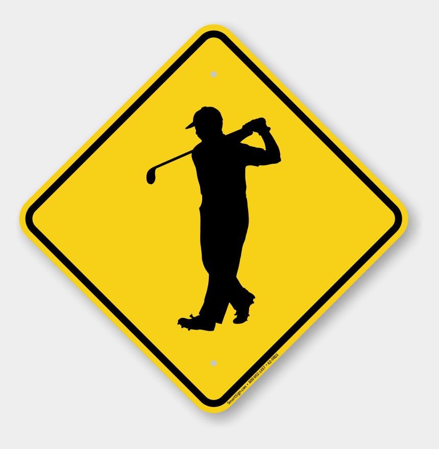 crossed golf club clipart, Cartoons - Zoom, Price, Buy - Golfer Sign