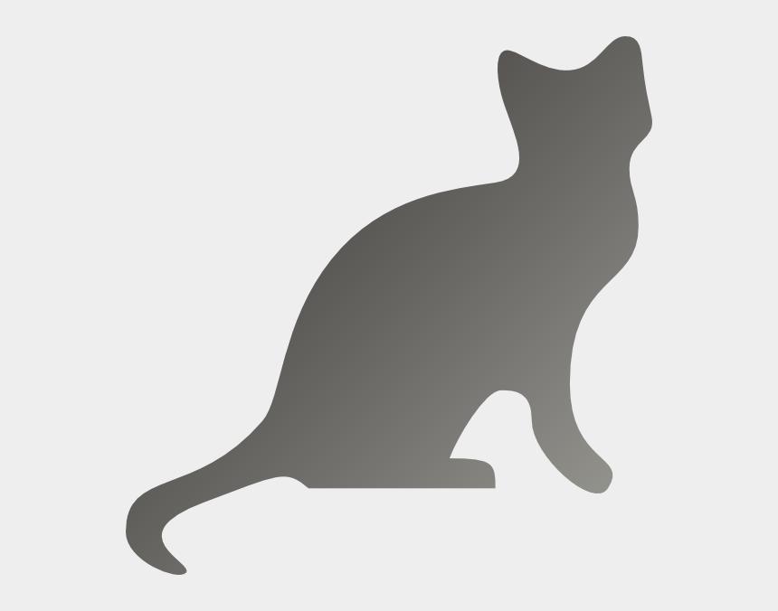 cat silhouette clipart, Cartoons - Cat Silhouette Clip Art Grey