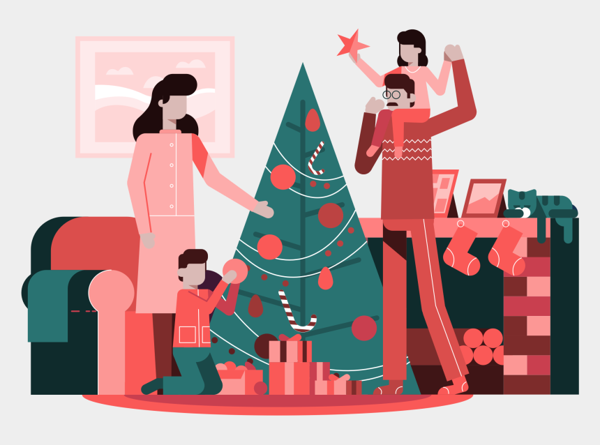 christmas ornament border clipart, Cartoons - Christmas Decorations - Illustration