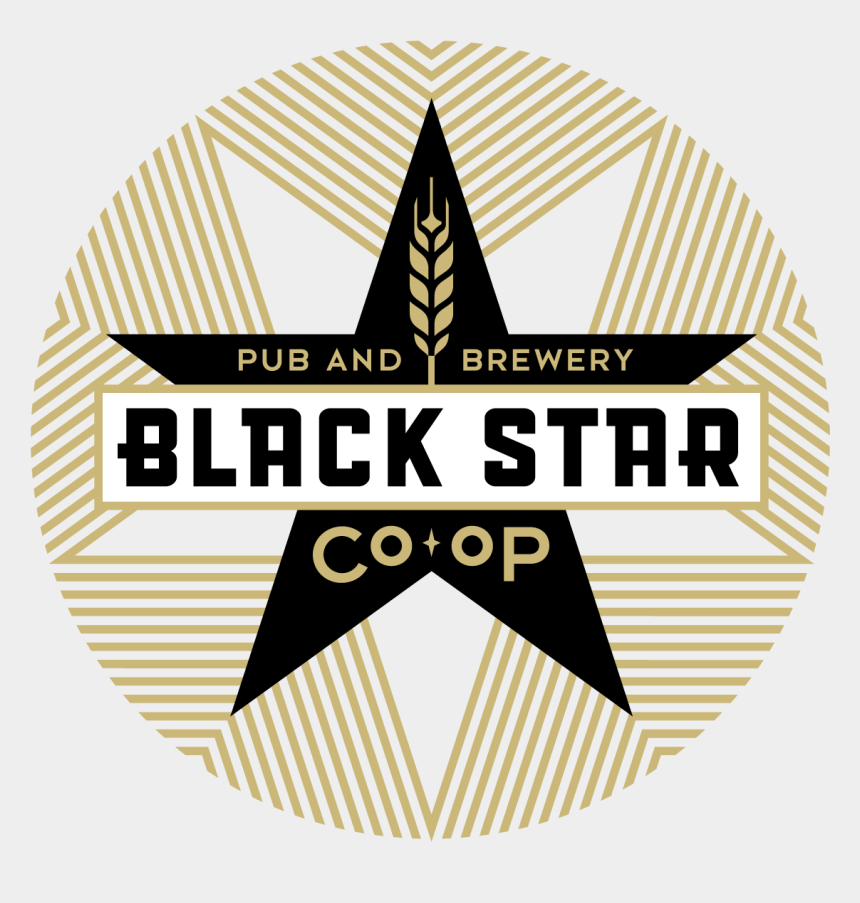 black stars clipart, Cartoons - Black Star Logo - Black Star Co Op Pub And Brewery