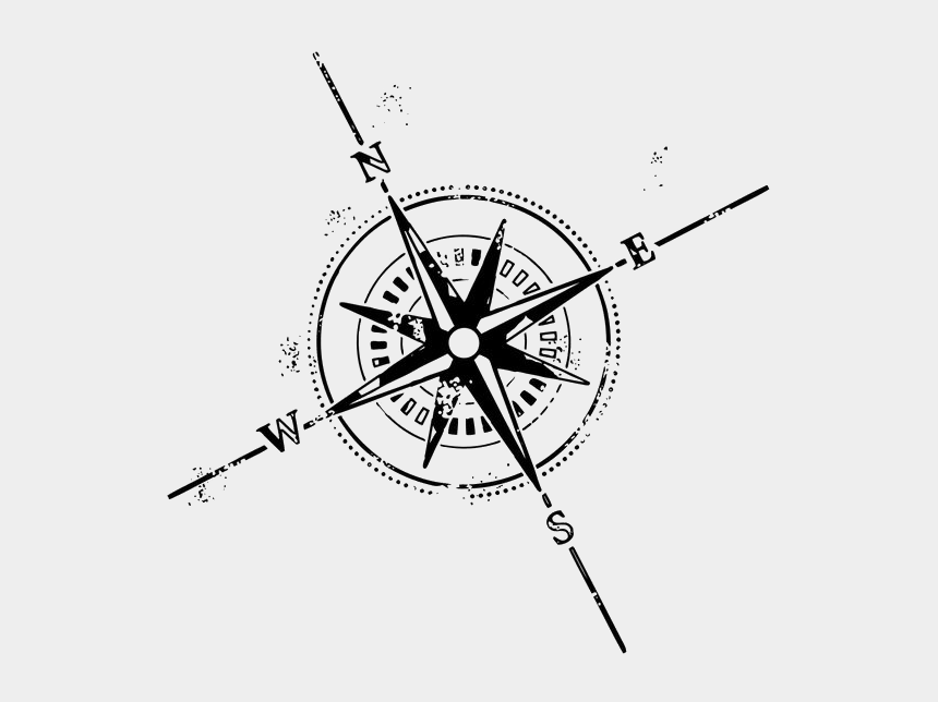 compass rose clipart, Cartoons - Simple Compass Tattoo Design