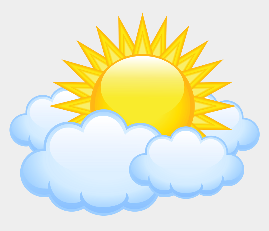 Sun And Clouds Clipart Png - Cloud With Sun Clipart