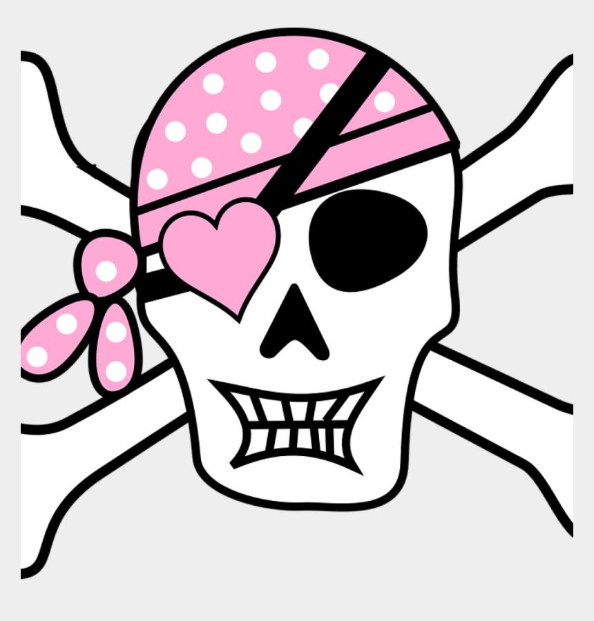 skull and crossbones clipart, Cartoons - Free Skull And Crossbones Clip Art Pirate Skull And - Girl Pirate Skull And Crossbones