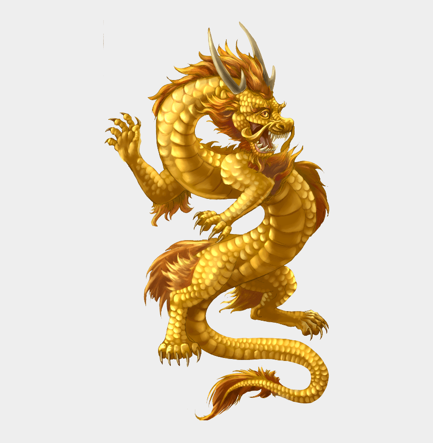 chinese dragons clipart, Cartoons - Chinese Dragon Gold - Gold Chinese Dragon Png