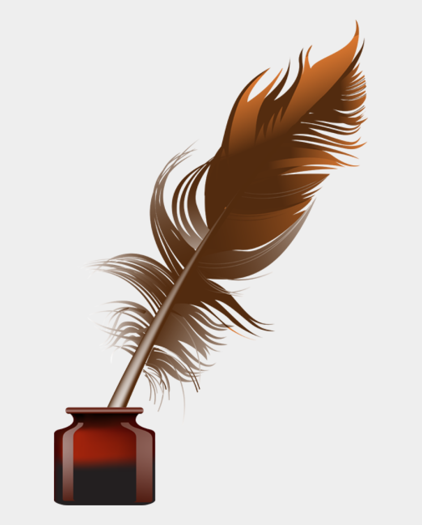 quill pen clipart, Cartoons - Feather Pen Png - Png Quill And Ink