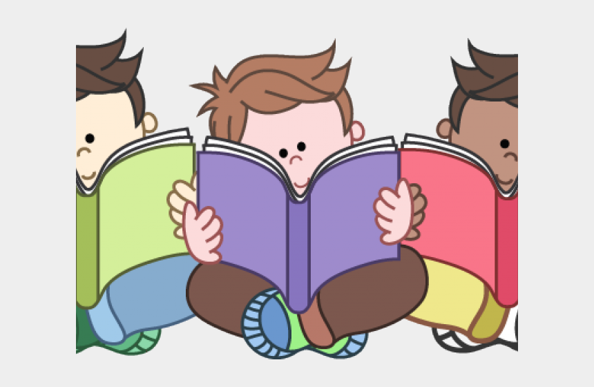 students reading clipart, Cartoons - Reading School Cliparts - Kids Reading Clipart Png
