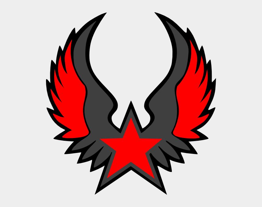 mathclipart, Cartoons - Star Emblem Clip Art On Cool Math Clip Art - Nautical Star With Wings Designs