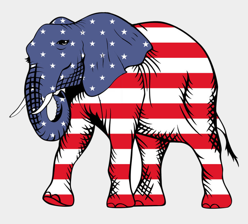 american flags clipart, Cartoons - American Flag Png - Elephant With American Flag