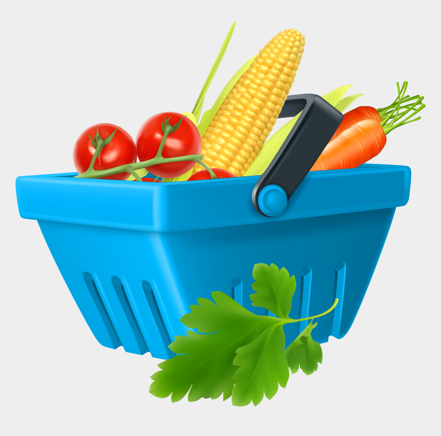 healthy foods clipart, Cartoons - Basket With Vegetables Png Clipart - Clip Art Vegetables Png