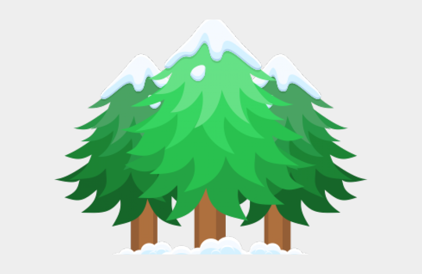 pine trees clipart, Cartoons - Clipart Trees With Snow