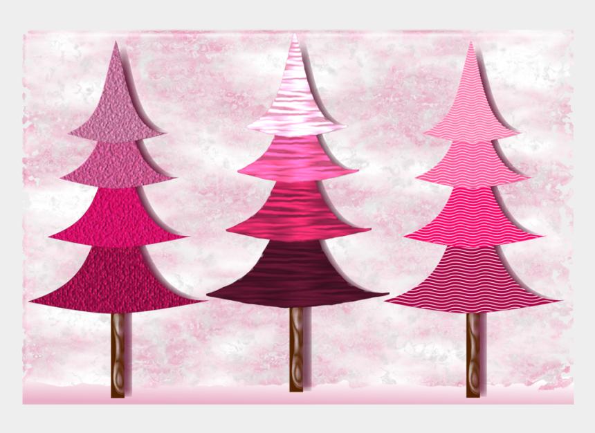pine trees clipart, Cartoons - Christmas Tree Pine Fir Wood - Pink Christmas Tree Drawing
