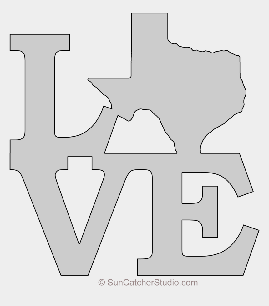 state of texas clipart, Cartoons - Texas Love Map Outline Scroll Saw Pattern Shape State - Printable State Of Texas Clip Art Free