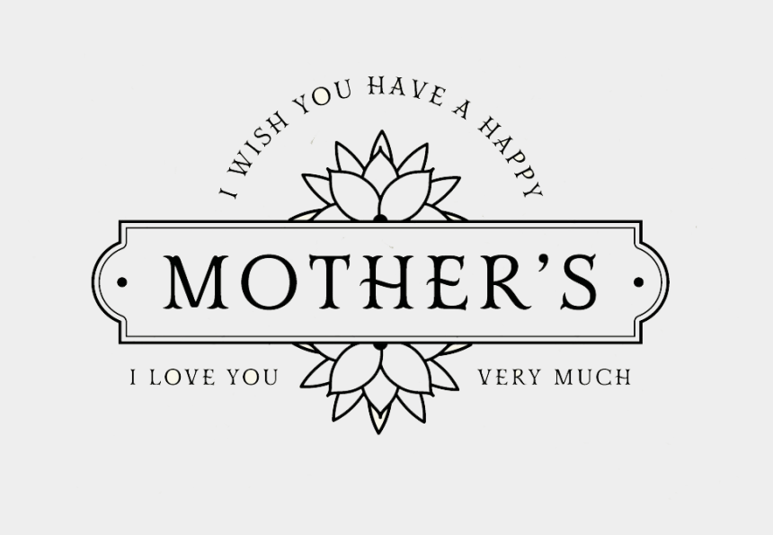 mothers day clipart images, Cartoons - Mother's Day Png Transparent Images - Line Art