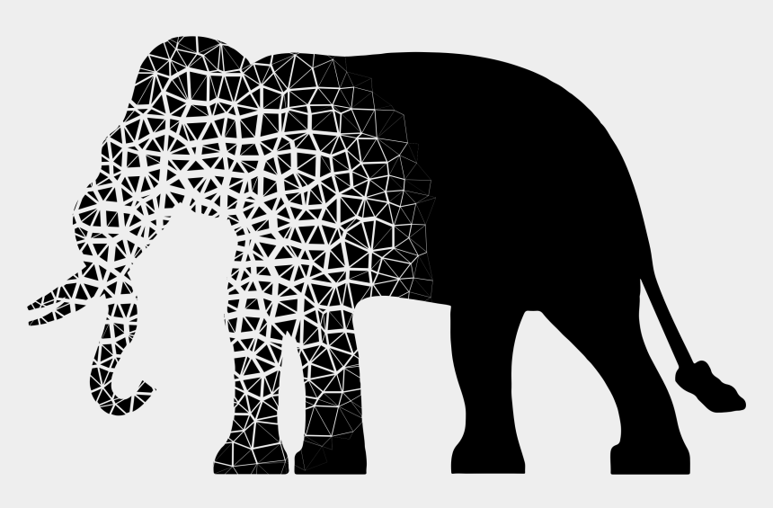 elephant clipart silhouette, Cartoons - African Elephant Elephants Silhouette Indian Elephant - Black And White Elephant Silhouette