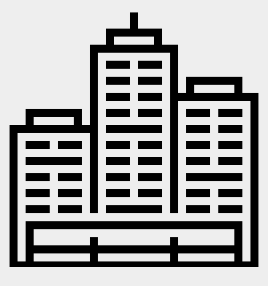 office building clipart black and white, Cartoons - Office Building Comments - 기업 아이콘