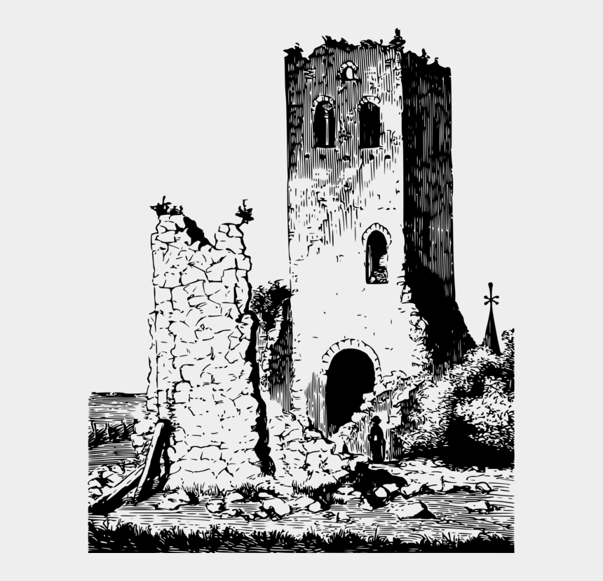 office building clipart black and white, Cartoons - Ruins Building Computer Icons Drawing Black And White - Ruins Png